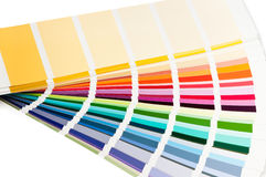 Color charts fanned out Royalty Free Stock Image
