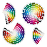 Color charts icons set Royalty Free Stock Photography
