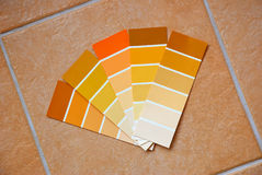Color charts on tiles Stock Photography