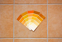 Color charts on tiles Stock Images