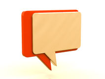 Color chat box Stock Photography