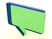 Color chat box Royalty Free Stock Image