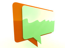 Color chat box Stock Image
