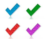 Color check marks from cubes Stock Photo