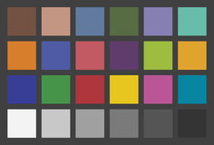 Color Checker. Used In Photography. The colors of the chart are exactly as were described by McCamy with colorimetric measurements Royalty Free Stock Photography