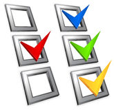 Color checkmark Stock Photography