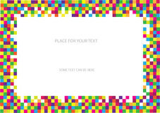 Color chequered frame Royalty Free Stock Photo