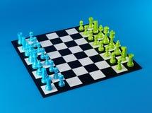 Color Chess Board Stock Photo