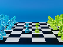 Color Chess Board Royalty Free Stock Photography
