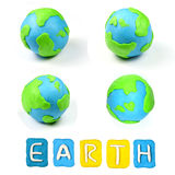 Color children's earth plasticine Royalty Free Stock Photography