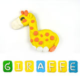 Color children's giraffe plasticine Royalty Free Stock Images