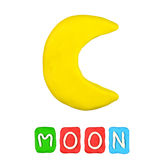 Color children's moon plasticine Royalty Free Stock Photo