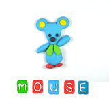 Color children's mouse plasticine Royalty Free Stock Image