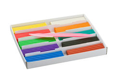 Color children's plasticine Royalty Free Stock Photo