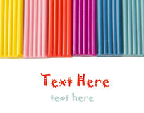 Color children's plasticine  on a white background Royalty Free Stock Photos