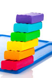 Color children's plasticine Royalty Free Stock Photography