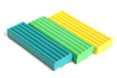 Color children's plasticine Royalty Free Stock Photos