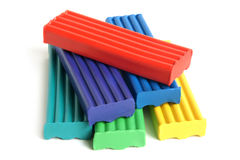Color children's plasticine Stock Image