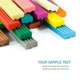 Color children's plasticine Royalty Free Stock Images