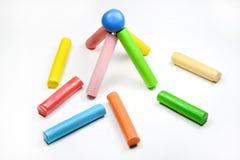 Color children's plasticine Stock Image