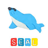 Color children's seal plasticine Royalty Free Stock Photo