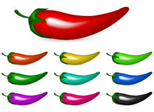 Color chili pepper Stock Image