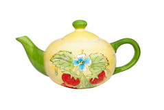 Color china teapot Stock Photography