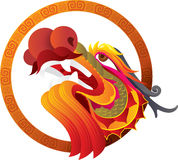 Chinese Dragon Head art Royalty Free Stock Photography