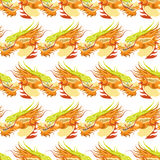 Color chinese dragon seamless pattern Royalty Free Stock Photos
