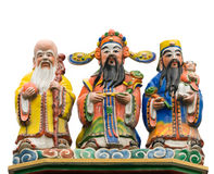 Color Chinese god Stock Photo