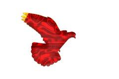 Color chino de la bandera en la silueta de la paloma Fotografía de archivo libre de regalías