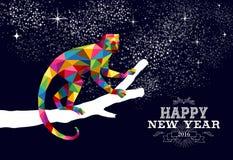 Color chino feliz 2016 del triángulo del mono del Año Nuevo libre illustration