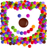 Color chip bear face Royalty Free Stock Photography