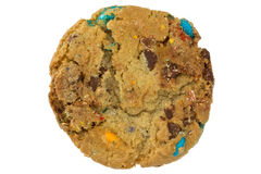 Color chocolate chip cookie isolated on white Royalty Free Stock Photo