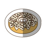 Color chocolate donut icon. Illustraction design image Royalty Free Stock Photography
