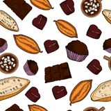 Color chocolate Vector pattern. Of hand drawing. Vector illustration, EPS 10 vector illustration