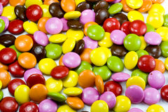 Color chocoloate dragee Royalty Free Stock Photos