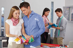 Color choices at fashion design Stock Photo