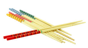Color chopsticks isolate Stock Photos