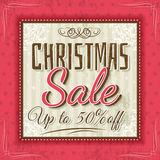 Color christmas background and sale offer Stock Image