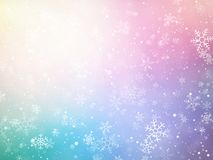 Color Christmas background with snowflakes. Modern style Stock Images