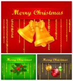 Color Christmas Background & Text Stock Photos
