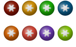 Color Christmas ball isolated on white background Royalty Free Stock Image