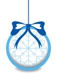 Color christmas ball with snowflake Stock Photos
