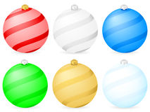 Color christmas balls Royalty Free Stock Image
