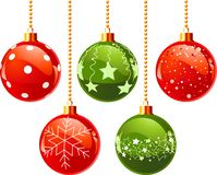 Color Christmas balls Stock Images