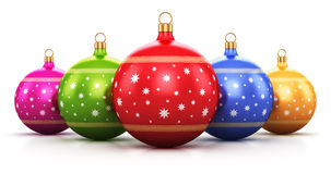 Color Christmas balls Stock Photography