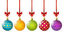 Color Christmas balls Royalty Free Stock Photography