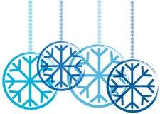Color christmas balls with snowflake Stock Image