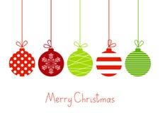 Color Christmas balls Stock Photo